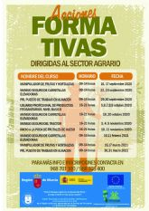 El Ayuntamiento de Caravaca y FECOAM oferta un programa formado por diez cursos para profesionales en activo y desempleados del sector agrario