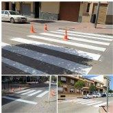 Saorín: 'Esta semana concluirá el repintado de los pasos de peatones de San Juan Bosco'