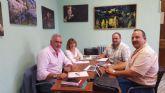 Visita realizada por el Alcalde de Moratalla al Ayuntamiento de Hellín