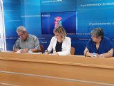 El Ayuntamiento de Molina de Segura y la Asociación Cultural BATUTA Virginia firman un convenio para la promoción de sus actividades musicales en 2019