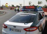 La Guardia Civil detiene a un conductor por eludir un control policial de forma temeraria y sin carn� (en Totana, carretera N-340)
