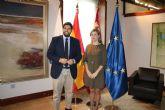 El presidente de la Comunidad se reúne con  la alcaldesa de Molina de Segura