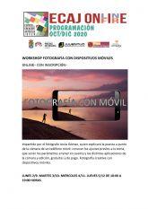 La Concejalía de Juventud de Molina de Segura inicia hoy lunes 2 de noviembre la formación Workshop: Fotografía con dispositivos móviles