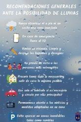 Comunicado Ayuntamiento. Beniel se encuentra en aviso amarillo por la posibilidad de precipitaciones