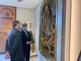 El retablo ´Virgen de la Fuensanta con niños cantores´ de Antonio Campillo, nueva pieza de la colección permanente del Museo de la Ciudad