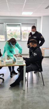 La Policía Local de Archena se hace los test de antígenos como medida de prevención ante la COVID19