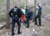 La Guardia Civil rescata a un senderista herido en el pasaje La Atalaya de Cieza