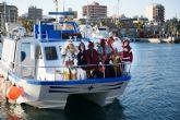 Los Reyes Magos llegan en barco este viernes al muelle pesquero