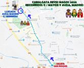La Cabalgata de Reyes partirá el próximo 5 de enero desde San Roque, para seguir por Calle Mayor y Avenida de Madrid, hasta el cruce con Calle Serrerías