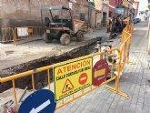 Comienzan las obras de renovación de la red de abastecimiento y saneamiento en un tramo importante de la Cañada Zamora, en su intersección con la calle Santiago