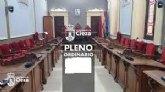 El Ayuntamiento celebra este martes el pleno ordinario de febrero