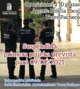 Oposiciones a 10 plazas de agente de la Policía Local de Torre Pacheco