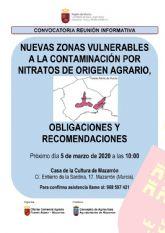 Los agricultores podr�n informarse de las nuevas zonas vulnerables a la contaminaci�n por nitratos