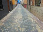 Obras de pavimentación en la Calle Fútbol Viejo