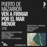 La ILPen defensa y protección del Mar Menor recogerá firmas este domingo 7 en diversos puntos del municipio