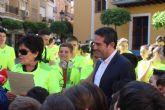 Llega a Alcantarilla la Antorcha Amiga de los Juegos Amigos del Colegio Antonio de Nebrija de Cabezo de Torres