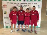 El mazarronero Miguel Ortiz se proclama campe�n de España con la selecci�n murciana cadete de tenis de mesa