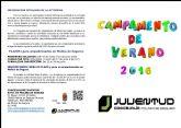 El Campamento de Verano 2016 de la Concejalía de Juventud de Molina de Segura ofrece 50 plazas para niños de 7 a 13 años