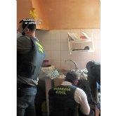 La Guardia Civil desmantela un punto de venta de droga al menudeo en un domicilio de Alhama de Murcia