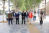 Inaugurada la exposición 'Entre arrozales' del fotógrafo Pedro Navarro Laforet en el paseo Alfonso X el Sabio de Murcia