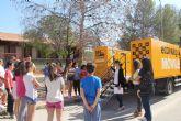 Jóvenes lumbrerenses conocen el funcionamiento del Ecoparque Móvil y aprenden a reciclar correctamente