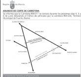La carretera RM-E11, que comunica El Paretón y varias pedanías de Fuente Álamo, permanecerá cortada del 4 al 6 de junio