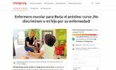 Una madre murciana recoge 15.000 firmas pidiendo un enfermero escolar para su hijo Borja