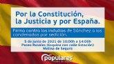 El Partido Popular de Molina de Segura inicia una campana de recogida de firmas contra los indultos de Sánchez