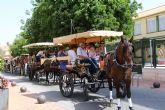 El XIII Encuentro de Carruajes 'Villa de San Pedro' llena las calles de calesas