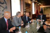 Fernando L�pez Miras se re�ne con el presidente de la Asociaci�n de la Dependencia de la Regi�n de Murcia