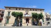 Totana se suma a la celebraci�n del 40 aniversario del Trasvase Tajo-Segura con la colocaci�n de una pancarta conmemorativa en el balc�n del edificio consistorial