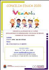 La Concejalía de Igualdad de Molina de Segura amplía hasta el día 7 de julio el plazo de inscripción en el servicio especial Concilia Verano 2020 por vía telemática