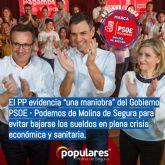 El PP evidencia 'una maniobra' del Gobierno PSOE - Podemos de Molina de Segura para evitar bajarse los sueldos en plena crisis económica y sanitaria
