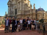Peregrinos italianos visitan la región de Murcia de la mano del Instituto de Turismo