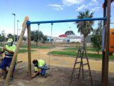Continúan los trabajos de mantenimiento de la zona verde de Los Jardines