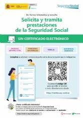 El Ayuntamiento informa sobre una nueva plataforma para solicitar prestaciones de la Seguridad Social