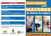 Nota de prensa sobre II Programa ´Mayormente Mayores´ y actividades último trimestre Concejalía Bienestar Social de Molina de Segura