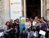Alumnos del Programa Mixto de Empleo-Formación de Atención Sociosanitario a Personas Dependientes en Instituciones Sociales realizan una visita a la Fundación Caja Mediterránea, en Cartagena