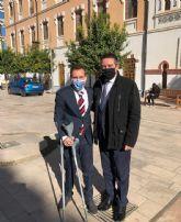 El alcantarillero Mateo Mateos recibe el premio de la Discapacidad de la Región de Murcia