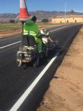 Mejoran la confortabilidad y seguridad de la carretera regional que comunica las pedanías de El Escobar y Cuevas de Reyllo