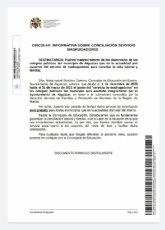 Servicio de conciliación en los CEIP Monte Anaor y Virgen del Carmen gratuito