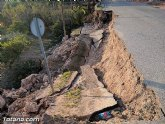 La carretera C7 de La Huerta permanecerá cortada el día de la romería del 7 de enero a consecuencia de los daños ocasionados por el temporal de lluvias