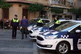 Hoy han sido presentados dos nuevos coches policiales, que se unen a la reciente adquisición de dos motos para la Policía Local de Alcantarilla