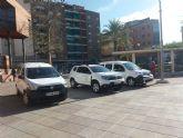 La flota de Servicios Municipales se renueva con cuatro nuevos vehículos para la Inspección y Almacén Municipal en los que se han invertido 57.345 euros