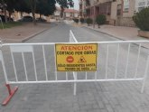 En los próximos días finalizan las obras de instalación de una nueva tubería de saneamiento en la Calle Bolnuevo, que entran en su última fase de ejecución