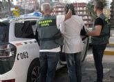 La Guardia Civil detiene en Puerto de Mazarrón a un experimentado delincuente buscado por la justicia