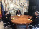 Reunión del delegado del Gobierno con el Jefe del III Batallón de la UME