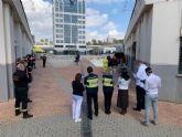 La UME instruye a bomberos, miembros de Protecci�n Civil y brigadas forestales en desinfecci�n de interiores