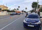 Polic�a Local y Guardia Civil contin�an realizando exhaustivos controles en los principales accesos a Mazarr�n