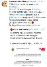 El PSOE de Archena lleva los deberes a casa a los niños sin Internet